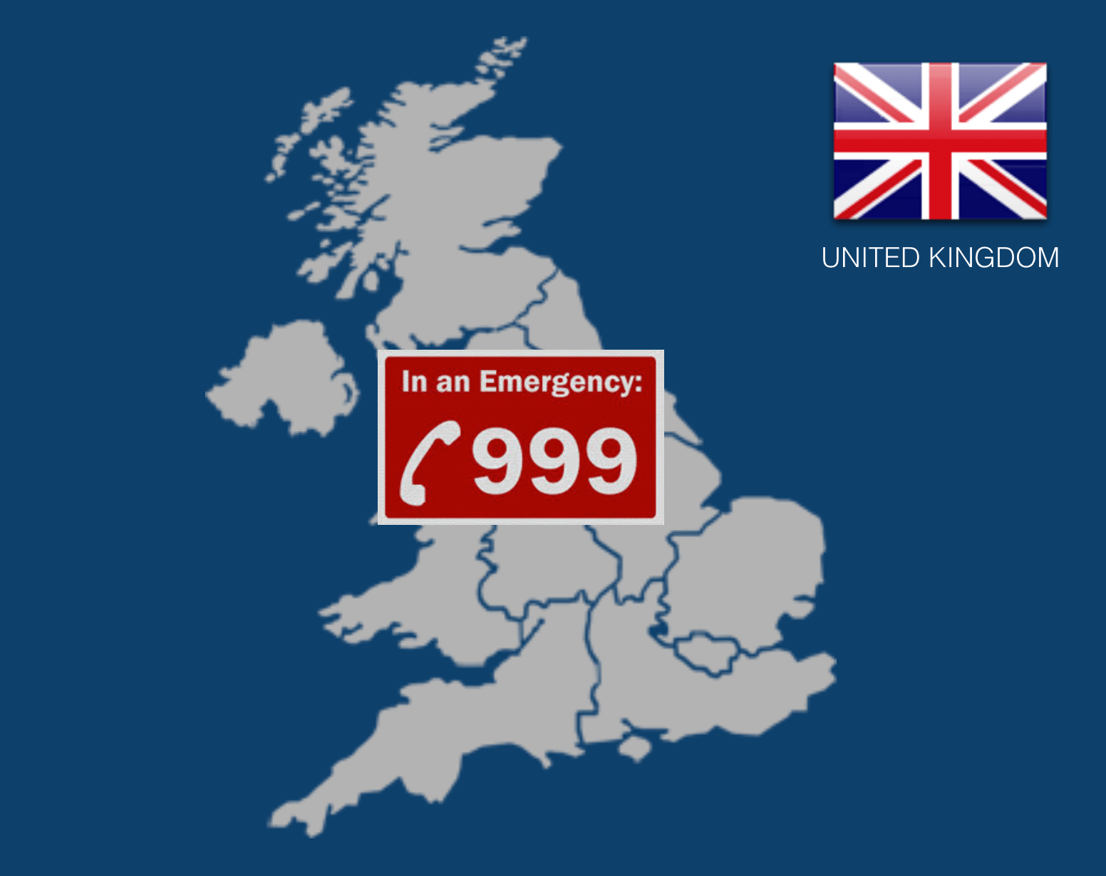 Dial 999 to call an ambulance in the UK