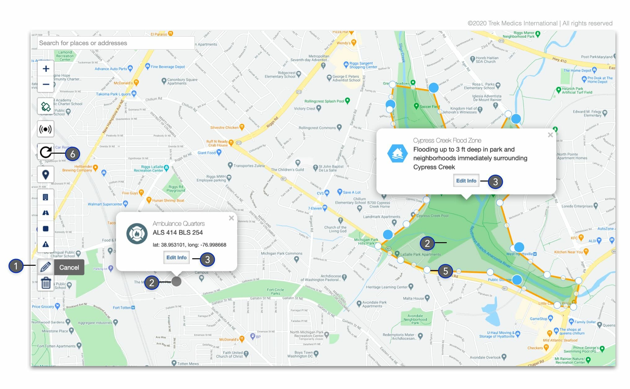 Editing Map Markers - Dispatcher Guide - Beacon Emergency Dispatch v4.0