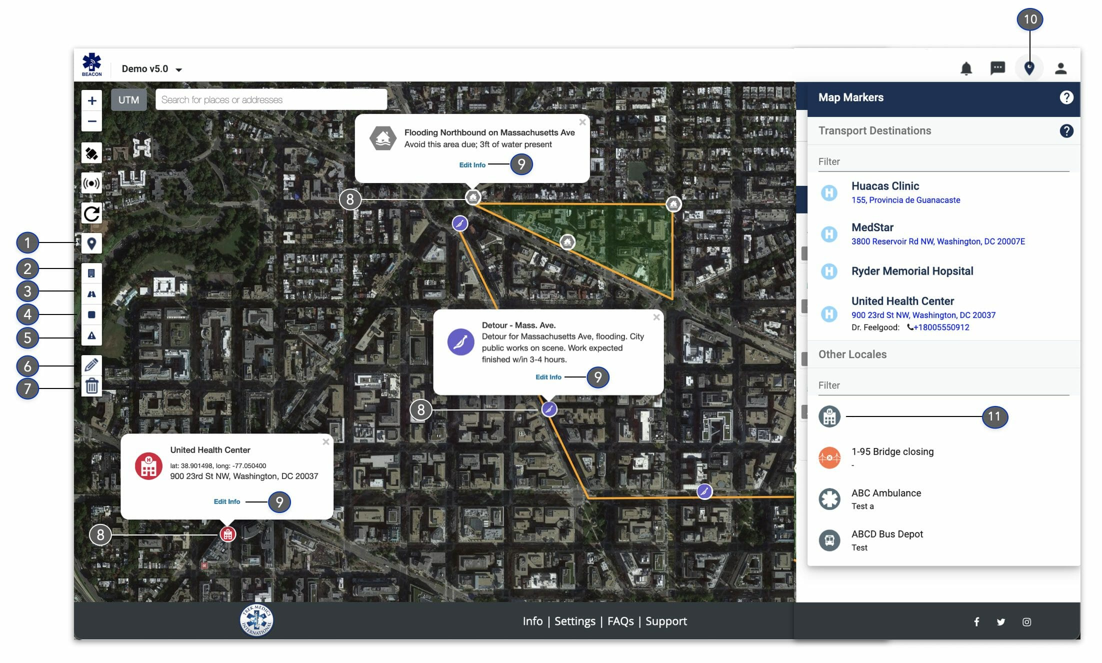 Map Editing - Dispatcher Guide - Beacon Dispatch v5.0