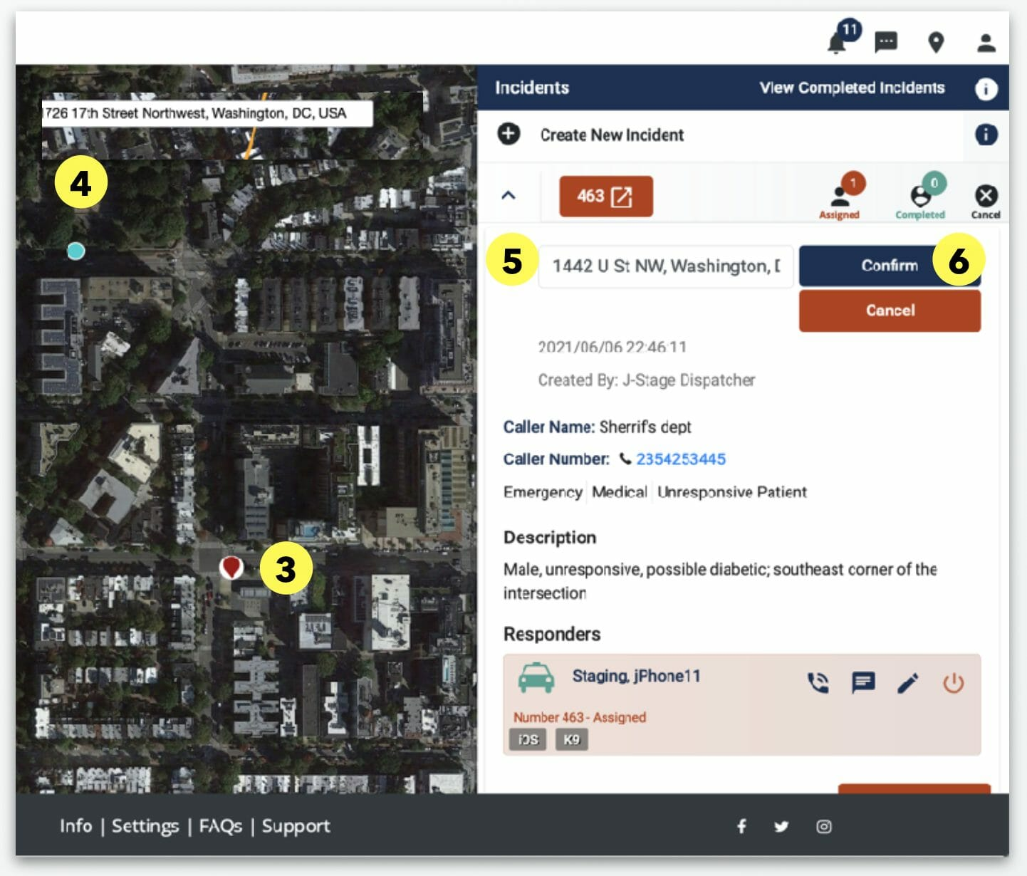 Update Incident Location 2 - Beacon Emergency Dispatch - Dispatcher Guide