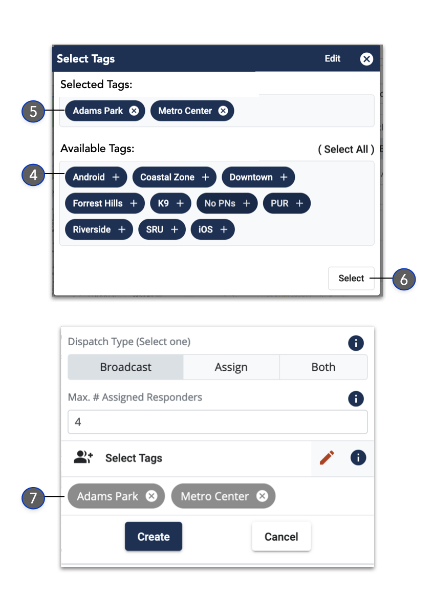 Create Incident with Responder Tags 2 - Dispatcher Guide - Beacon Emergency Dispatch v5.0